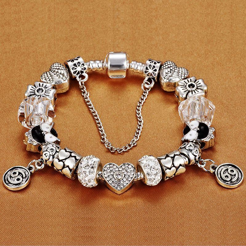 Pandora Charms Weihnachten.Homod Heisser Frauen Schmuck Konstellation Charme Armband Fit