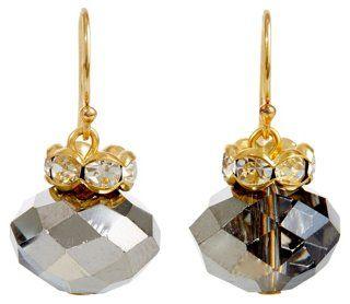 Silver & Gray Crystal Krister Earrings