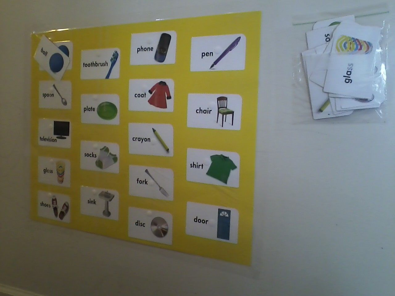 Simple Picture Word Matching Board Buy 2 Identical Flash Card Sets Poster Board Velcro Dots Adhere One Set To Pos Matching Cards Card Set Velcro Dots