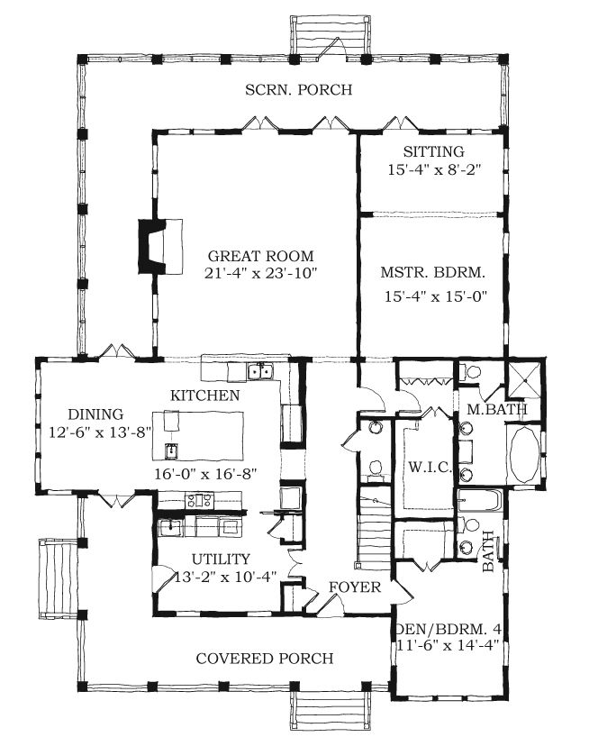 Allison Ramsey Architects Floorplan For Coffee Bluff