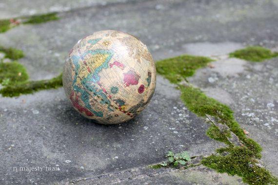 Small World Globe. Vintage. Orb. Decorative by NorthMajestyTrail