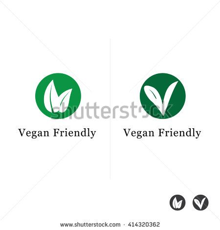Suitable For Vegetarian Symbol Vegan Friendly Food Icon Stock