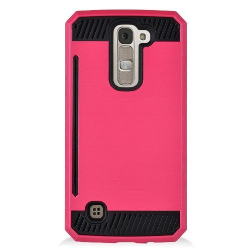 EGC Hybrid Dual Armor LG K7 / Tribute 5 Case Hot Pink