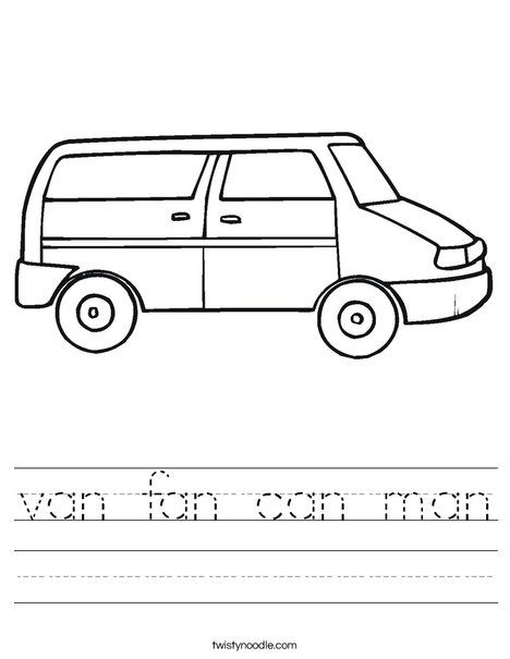 Vans Family Coloring Pages Amazing Design