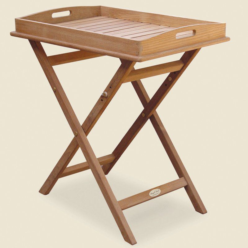 Royal Teak Tray Top Outdoor End Table TRST Products Pinterest - Teak outdoor end table