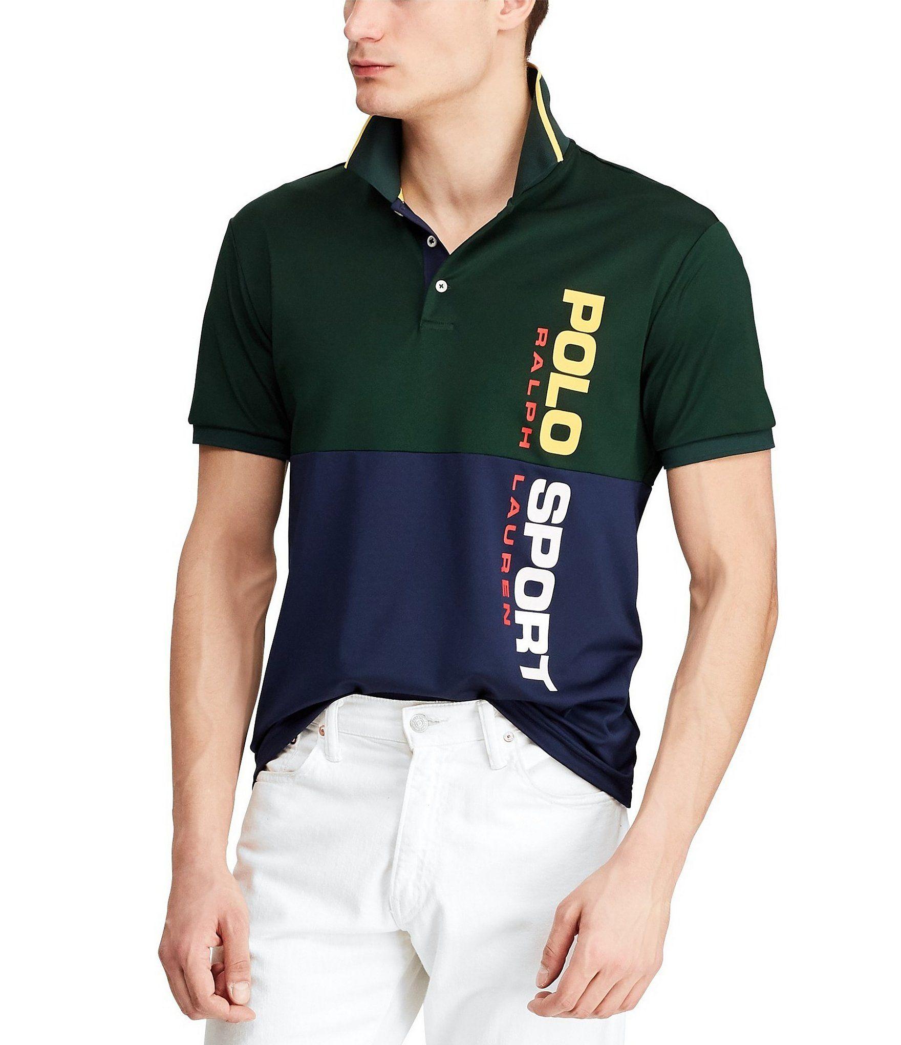 Polo Sport Side Logo Tech Pique ShortSleeve Polo Shirt en