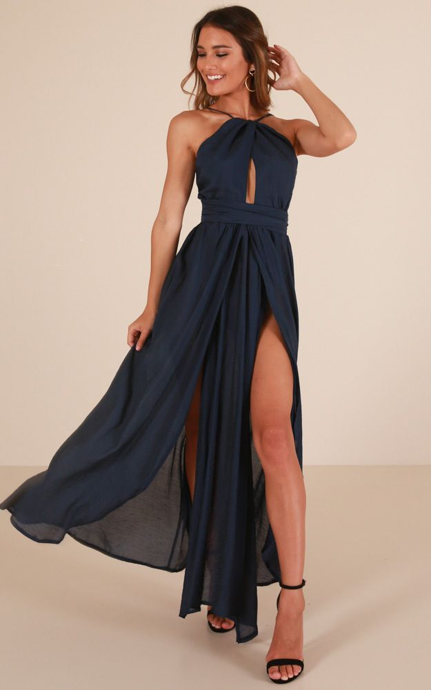 f480afb5464 Showpo Love This City maxi dress in navy - 6 (XS) Occasion Dresses
