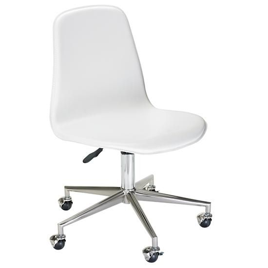 White Cl Act Desk Chair This Adjusts Easily So The And Combo