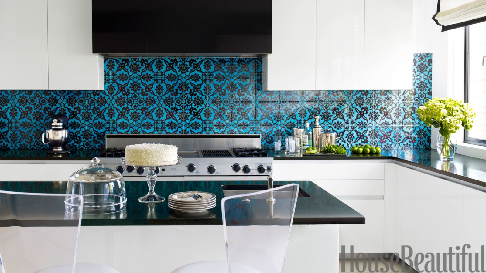 impossibly chic kitchen backsplashes black granite countertops