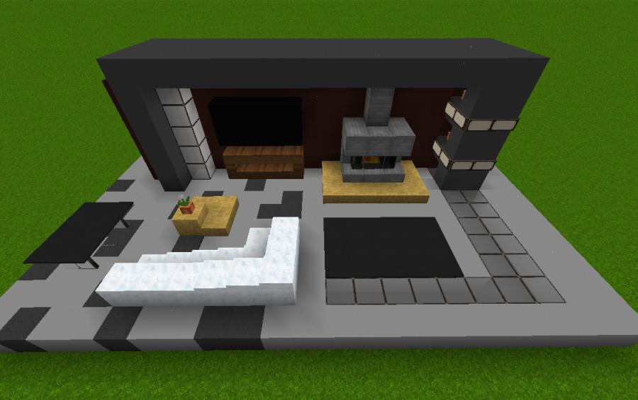Small Modern Living Room, creation #4603   Minecraft ...