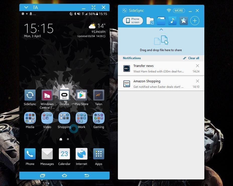 sidesync for windows 7 | Samsung SideSync | Samsung, Desktop
