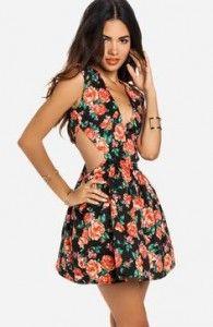 fa92d9b9d Vestidos de moda juveniles floreados 2015 3