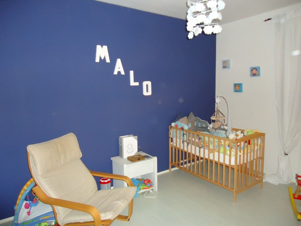 chambre bleue Chambre Bebe Blanc Et Bleu  chambre bébé garçon