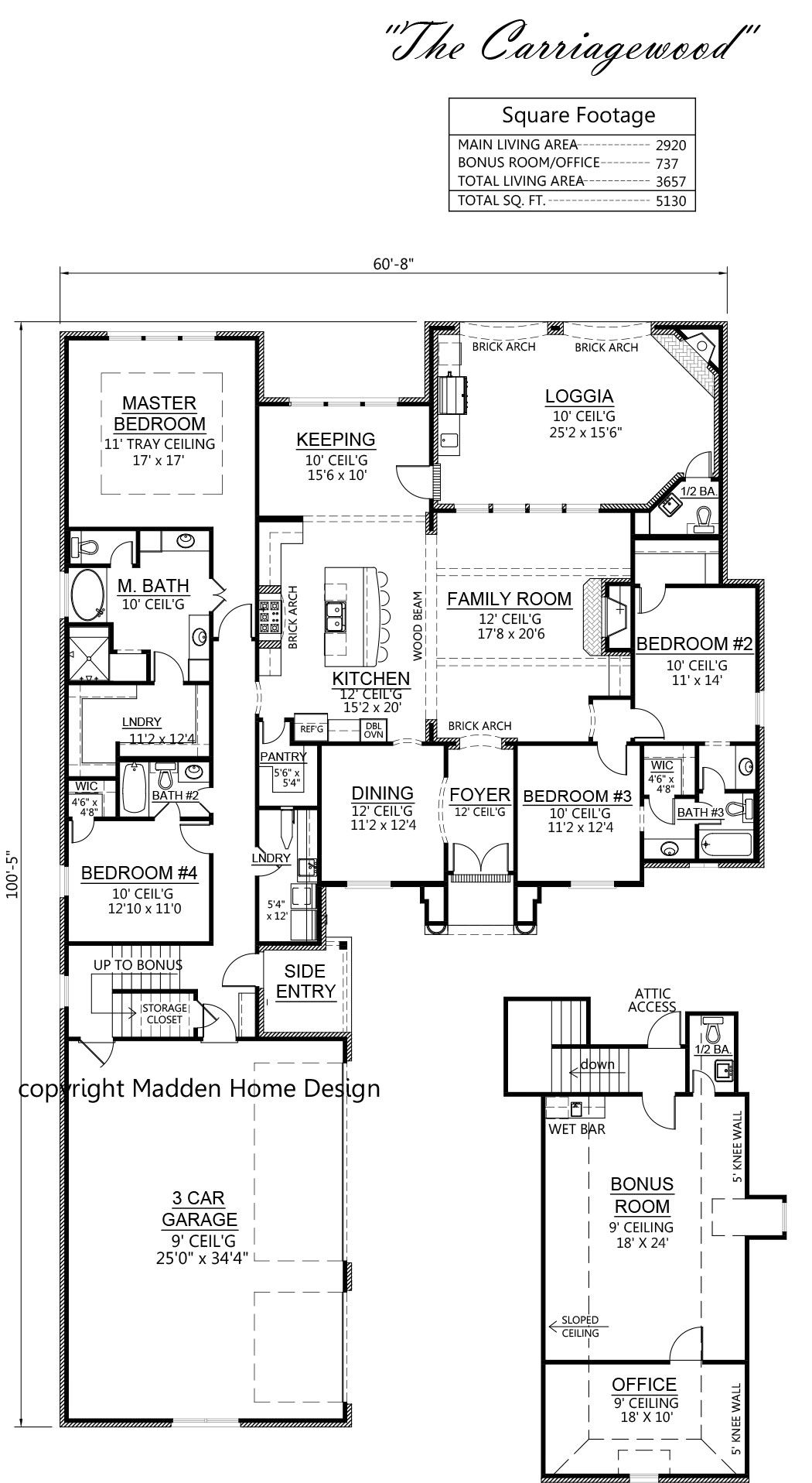 Madden Home Design   The Carriagewood LOVE This One!! Needs Shower Above  Garage For