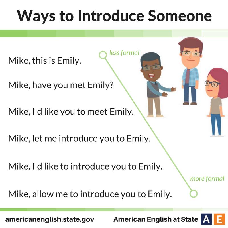 Ways to Introduce Someone | English language learning