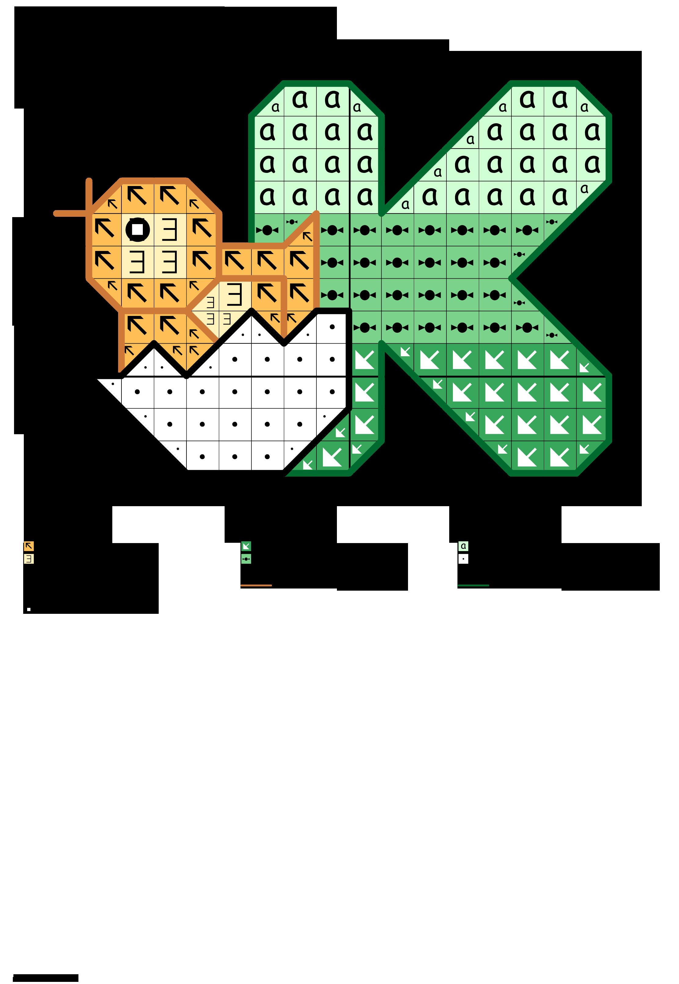 alfabeto dei pulcini: K
