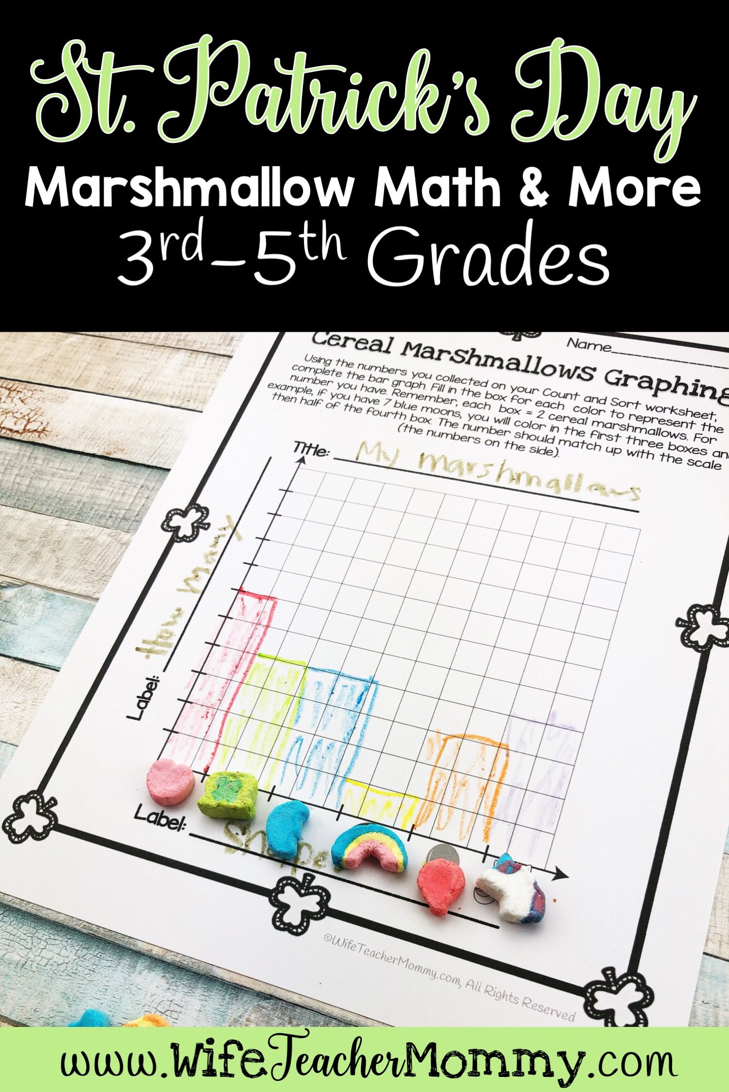St Patrick S Day Cereal Marshmallow Math Amp More For 3rd
