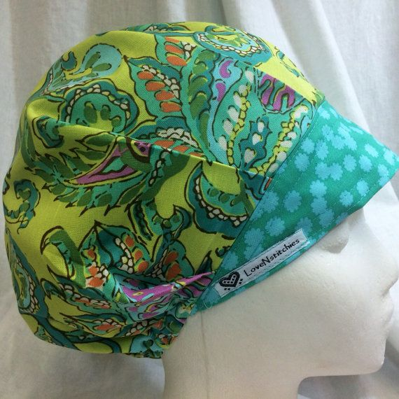 Bouffant Scrub Hat Surgical Caps For Women By Lovenstitchies