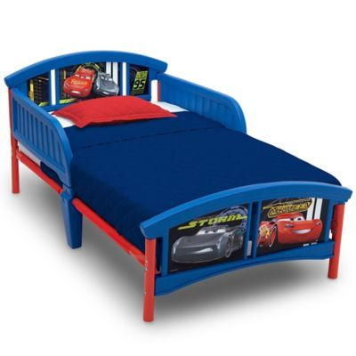 Disney Pixar Cars Plastic Toddler Bed Red
