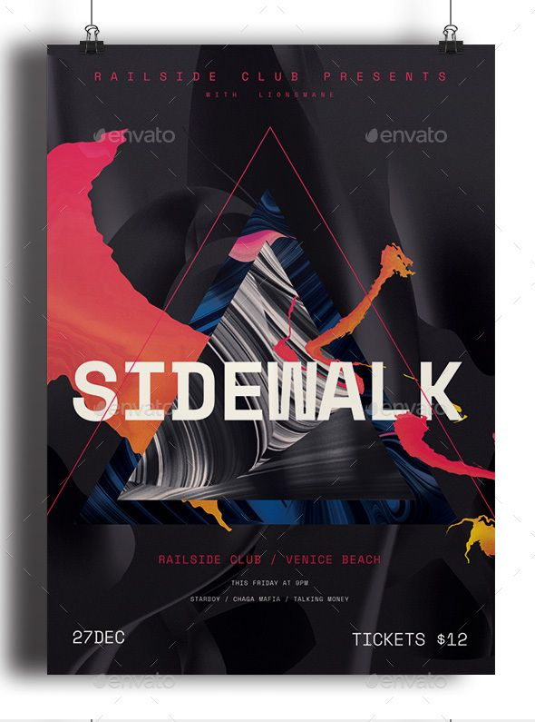 Sidewalk  Event Poster  Flyer  Flyer  Brochure Designs  Psd