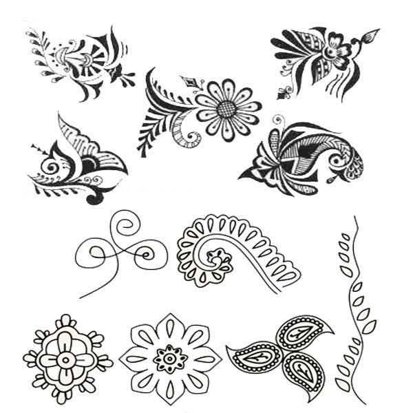 Easy henna designs drawings