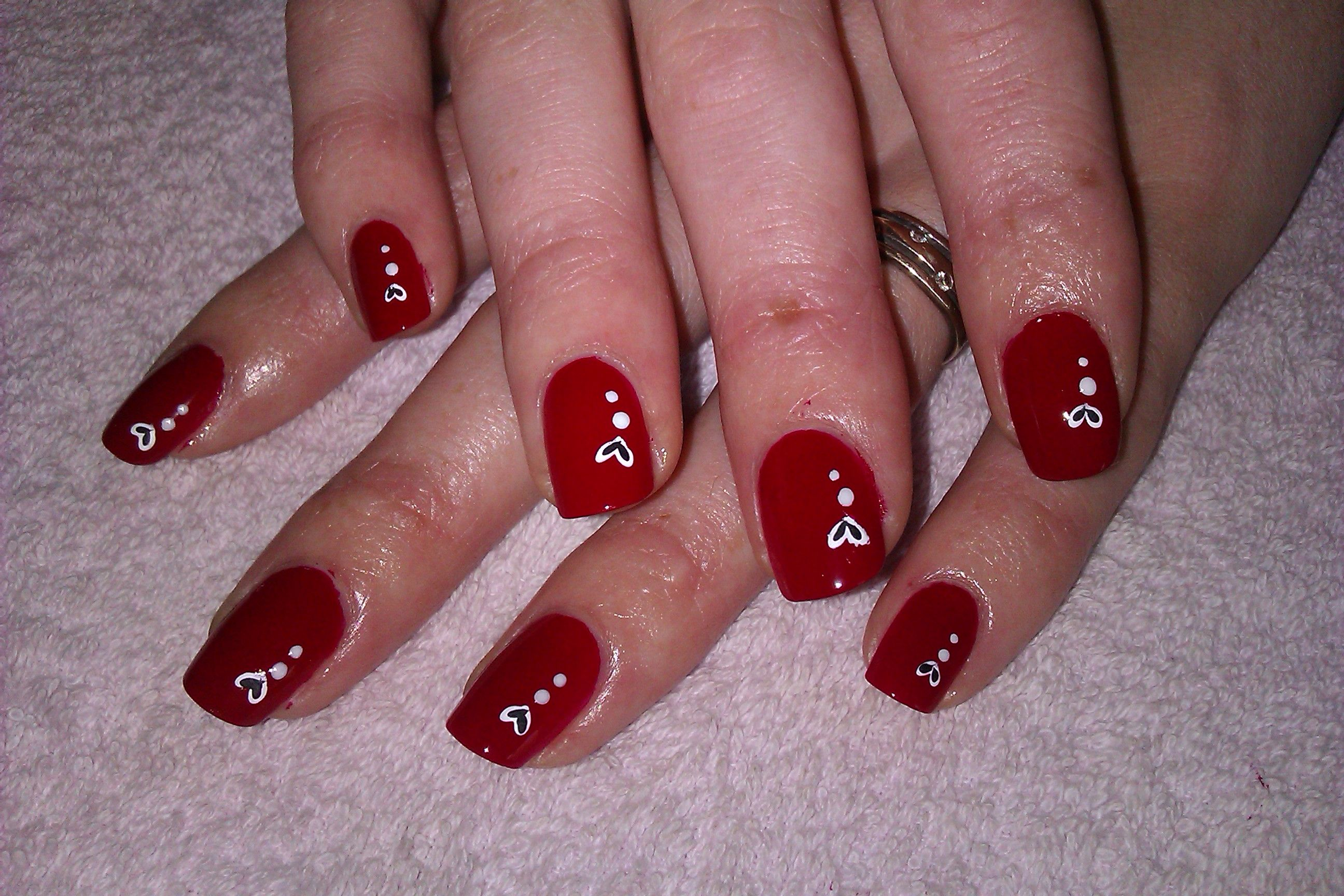 Pictures Of Nail Art Designs Diy Nail Art Designs Fiery Red