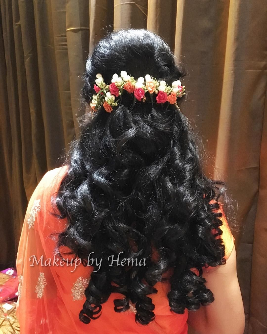 curly hair styles. indian wedding hairstyles. indian wedding