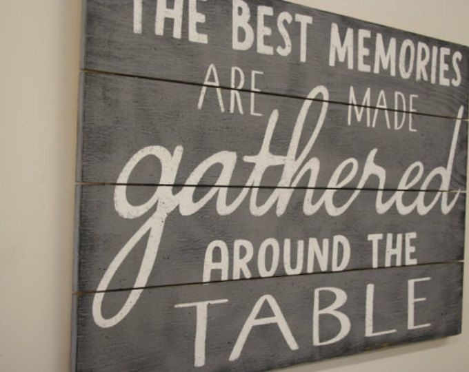 Kitchen Sign Dining Room Decor Pallet Wood The Best Memories Are Made Wall Art Farmhouse