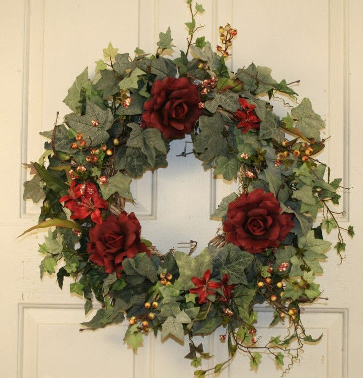 This Handcrafted Front Door Wreath Is New This Season And Can Be A Year Round Wr Victorian Christmas Decorations Decorative Door Wreaths Wreaths For Front Door