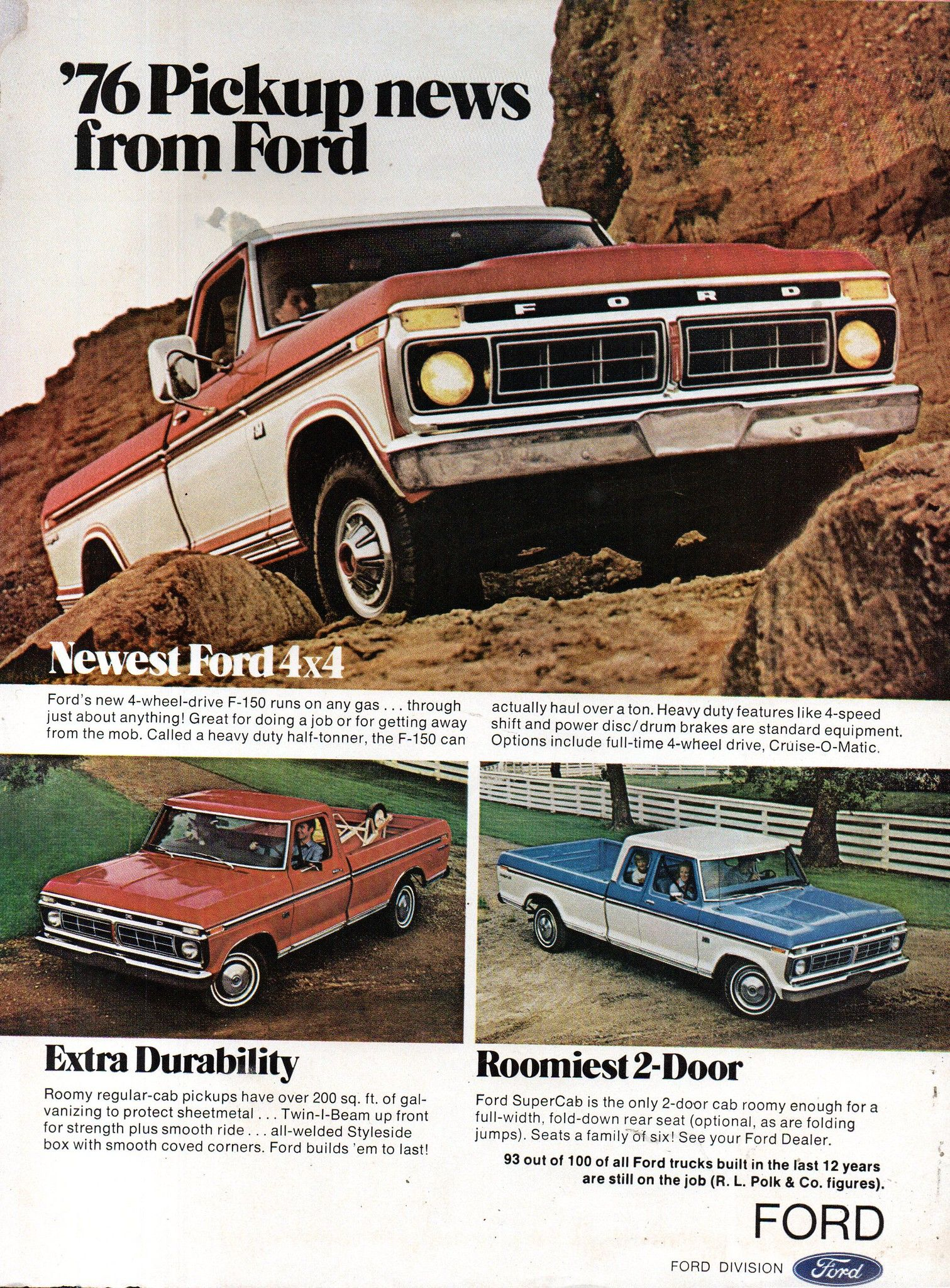 1976 Ford F Series Pickup Truck Usa Original Magazine