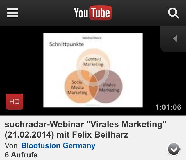 Suchradar-Webinar: Virales Marketing mit Felix Beilharz (21.02.2014)