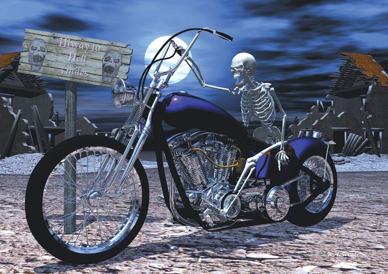 Grim Reaper riding a harley  112ef888dc2d
