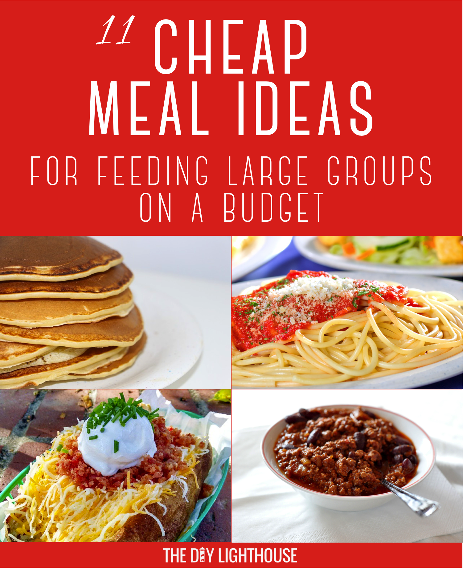 cheap meals for feeding large groups | feeding a crowd | pinterest