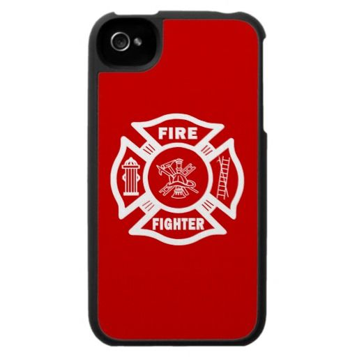 Fire Fighter Maltese iPhone 4 Cases