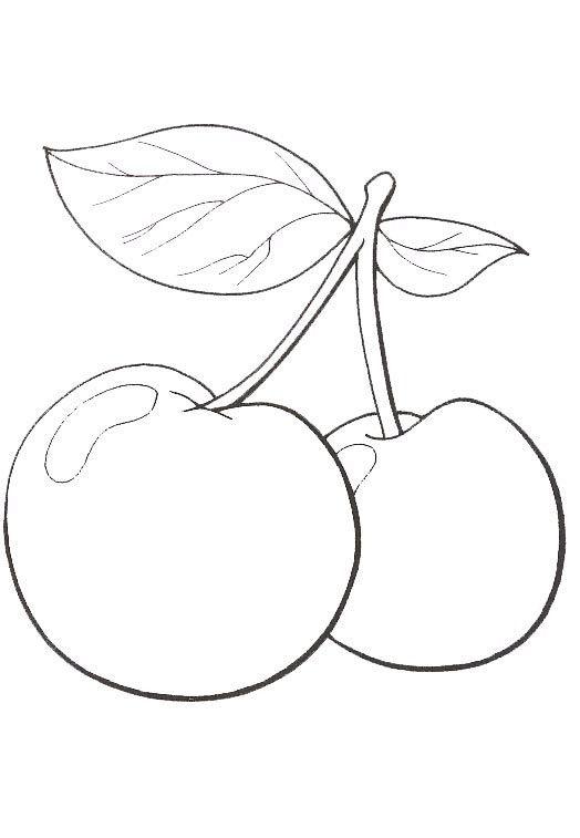 Natureza Frutas Imprimir Imagem 8 şablon Pinterest Boyama