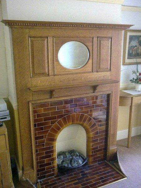 Tiled Arched Fire Surround Google Search Vintage Fireplace Wallpaper Fireplace Edwardian Fireplace