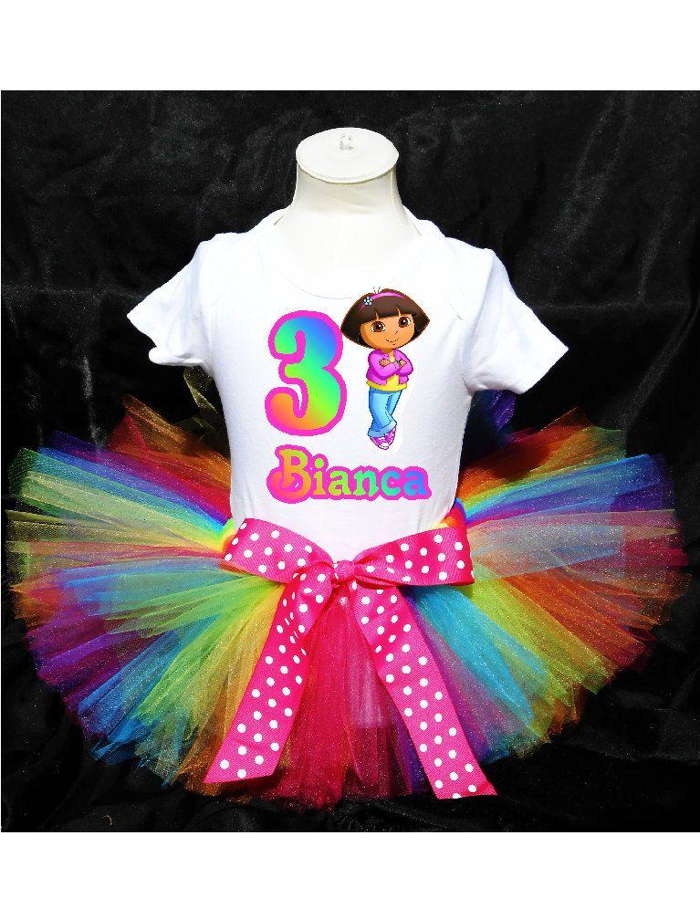 Dora the Explorer Tutu Birthday Outfit by