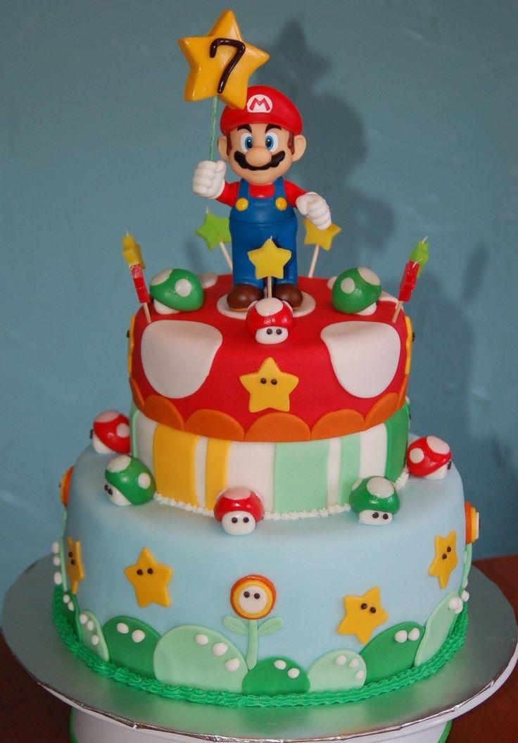 Super Mario Cake The mario isnt made with fondant super mario