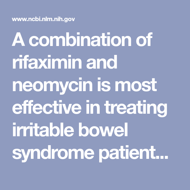 A combination of rifaximin and neomycin is most effective in
