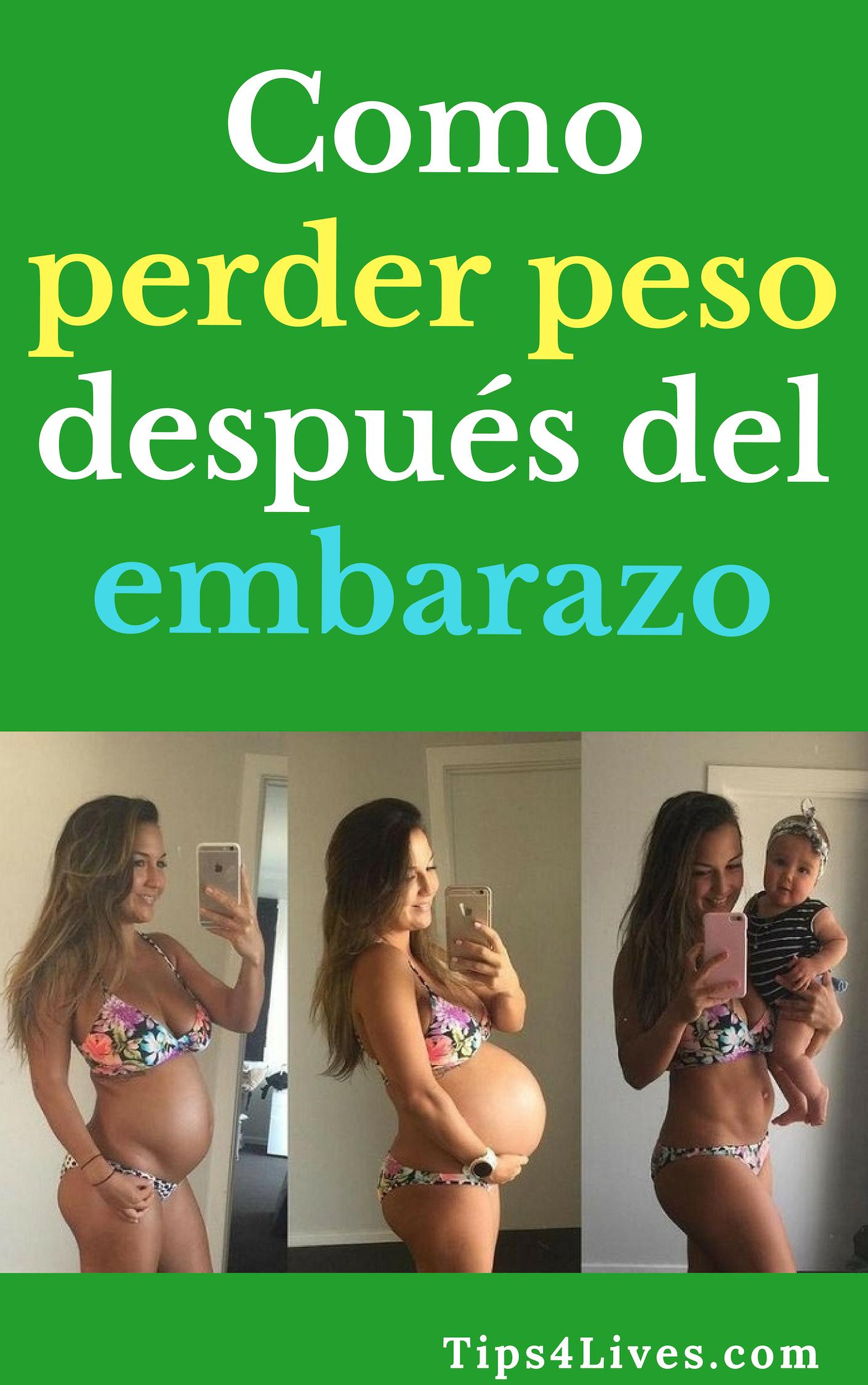 Embarazo el perder en peso