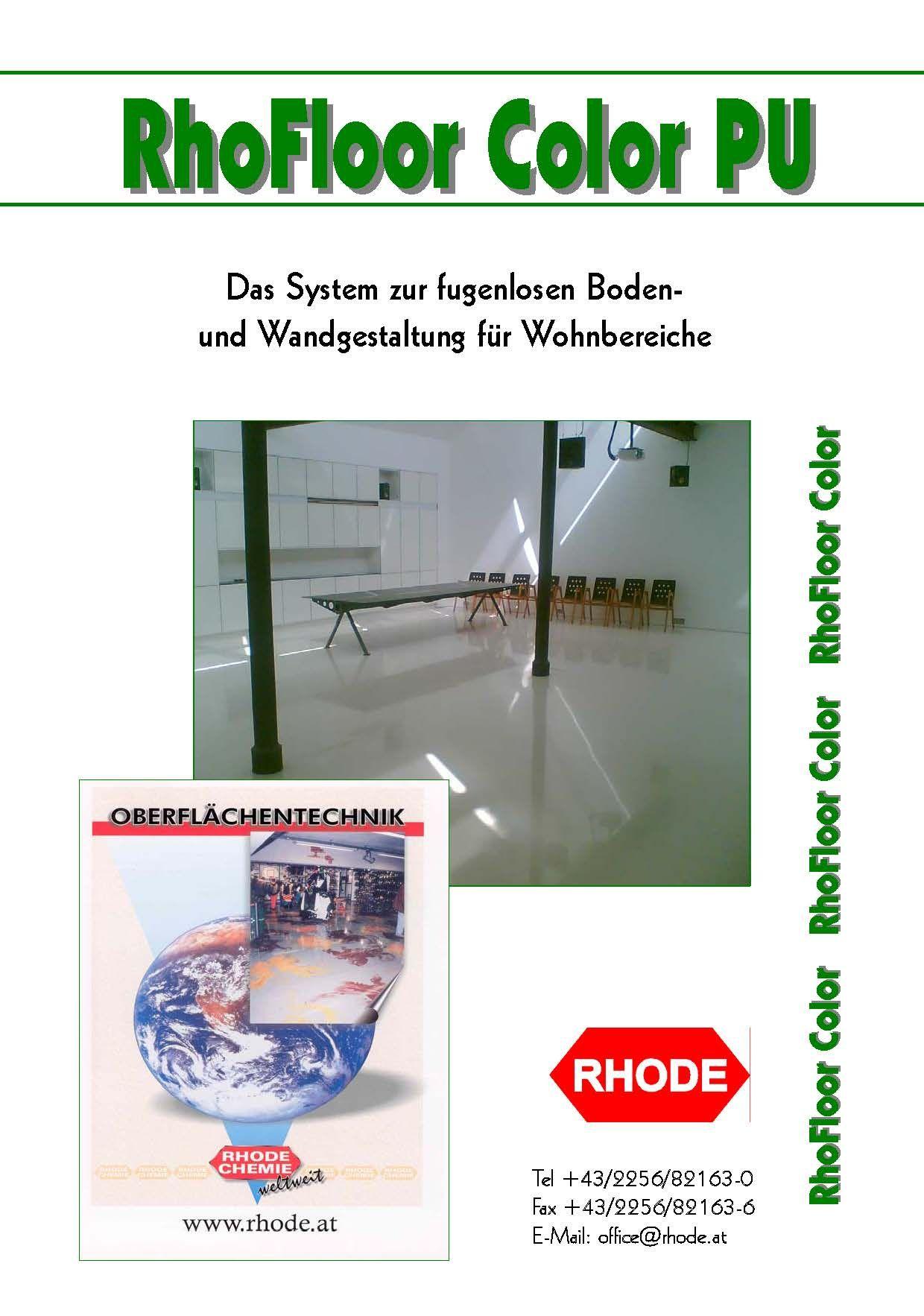 RhoFloor Color PU   Rhode Oberflächentechnik   Oberflächentechnik ...