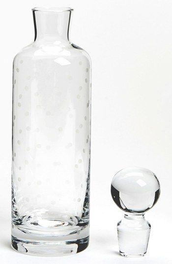 kate spade new york 'larabee dot' decanter. Great for wedding present, housewarming etc.