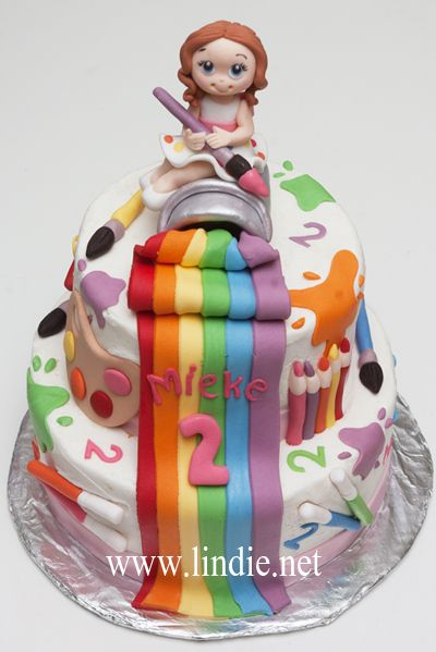 paintArt cake I want this for Julies bday Kids Projects