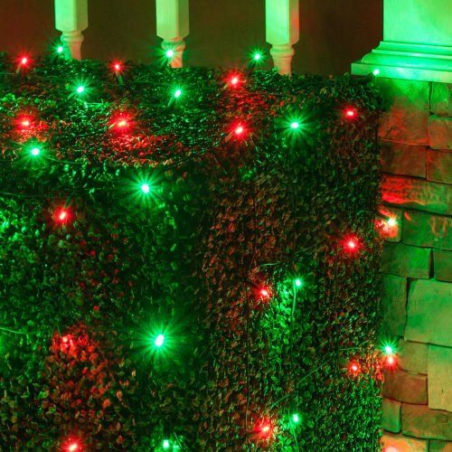 set of 100 led net lights christmas net lights outdoor christmas decorations green wire 4 x