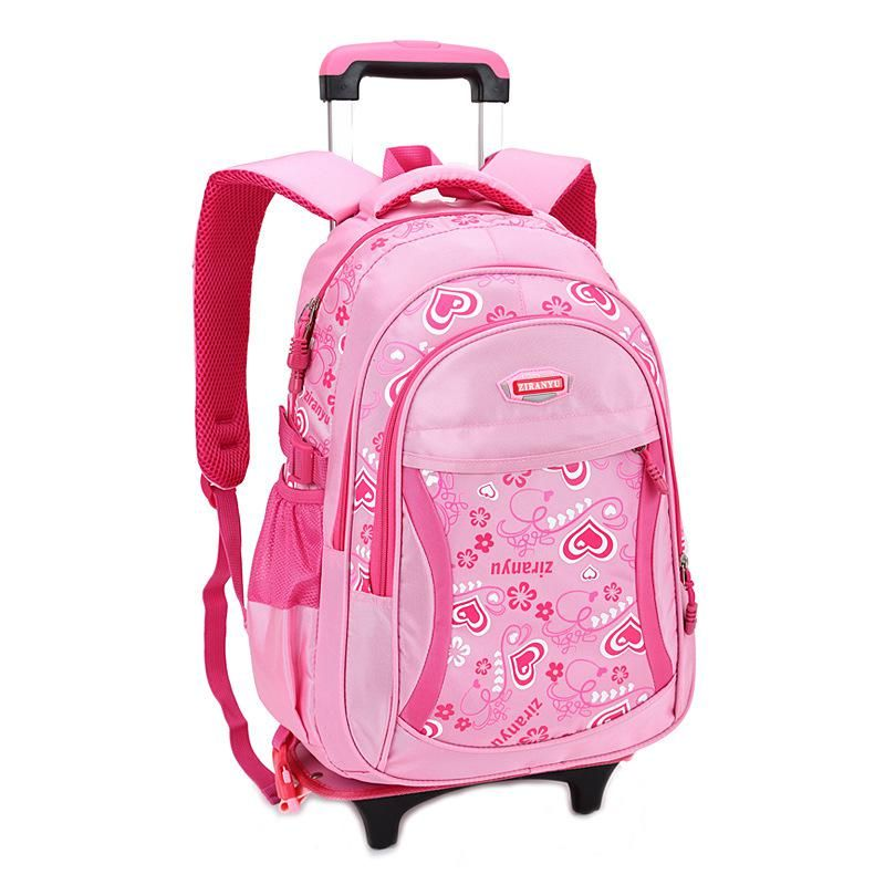 Children School Bags Grils Trolley Backpack Wheels Bag Student Detachable  Rolling Backpacks schoolbags Women travel bag Mochila. 593c96bc4a660