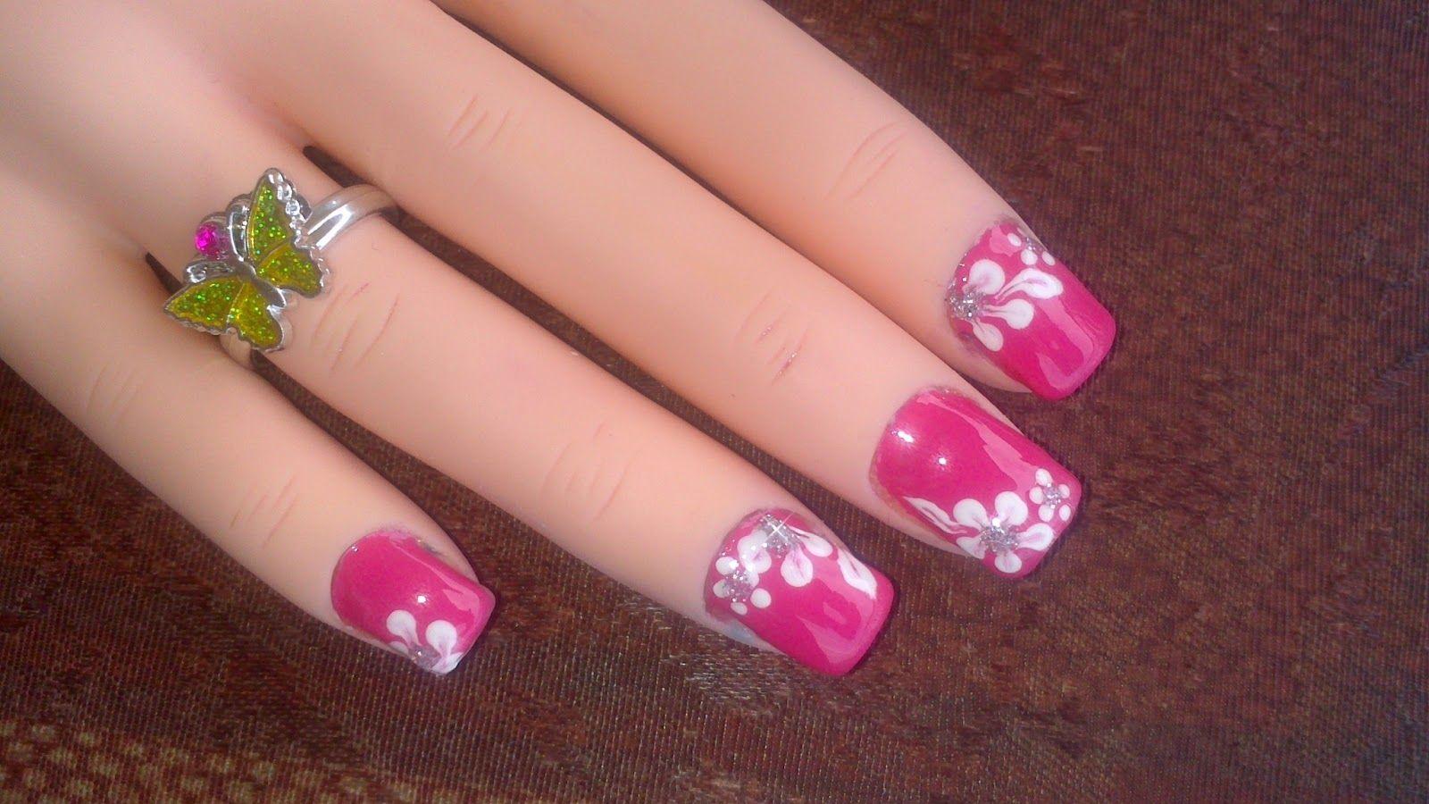Lnetsa S Nailart Toe Nail Design Short Nails Version Pink With