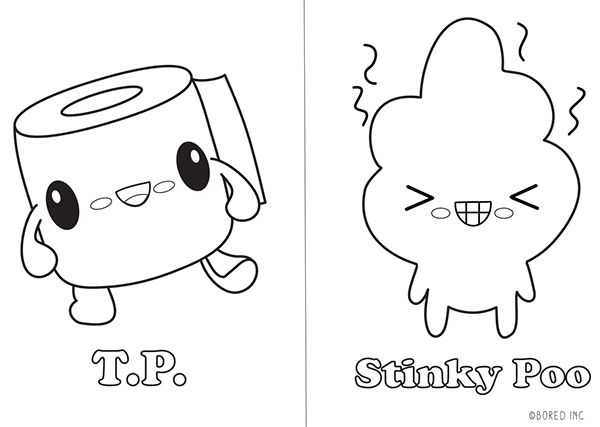 Stinky Poo Coloring Book On Behance Coloring Books Coloring
