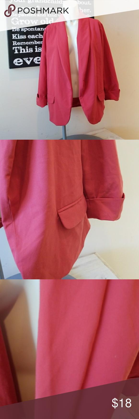 3/24💋i love 81 f21 roll cuff blazer Rolled cuff