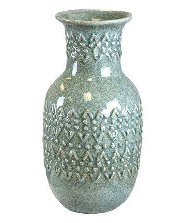 Look at this #zulilyfind! 12'' Light Green Ceramic Vase #zulilyfinds