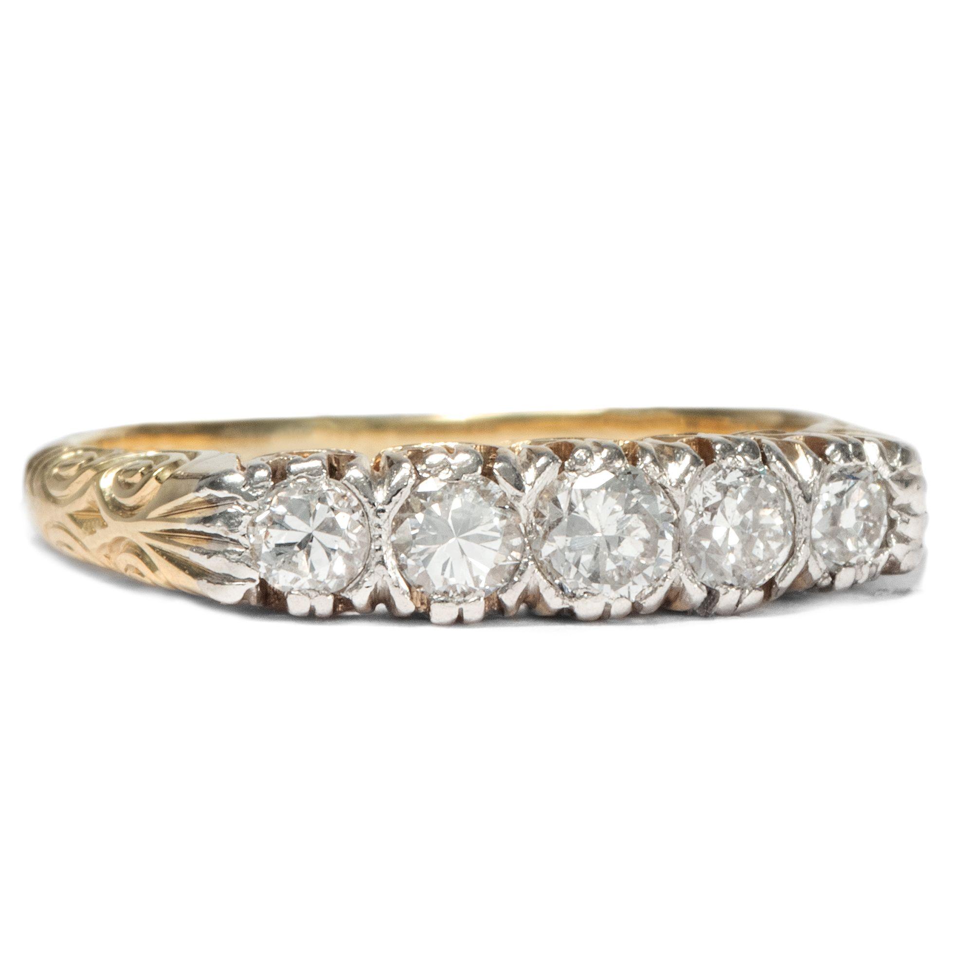 Amors Addition - Antiker Diamant-Ring in Gold & Platin, Deutschland um 1935 von Hofer Antikschmuck aus Berlin // #hoferantikschmuck #antik #schmuck #Ringe #antique #jewellery #jewelry // www.hofer-antikschmuck.de (19-1029)